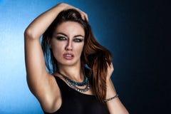 Young sensual woman. Sensual young woman looking at camera Stock Photos