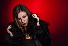 Young sensual woman. Sensual young woman looking at camera Stock Images