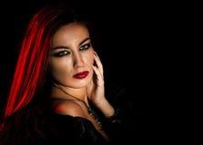 Young sensual woman. Sensual young woman looking at camera Royalty Free Stock Photos