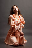 Young sensual woman in a retro dress Royalty Free Stock Photo