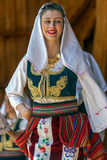 Young Serbian dancer in traditional costume 3. ROMANIA, TIMISOARA - JULY 10, 2016: Young Serbian dancer in traditional costume, present at the international folk royalty free stock image