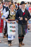 Young Serbian dancers in traditional costume 3 Royalty Free Stock Image