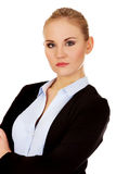 Young serious blonde business woman Royalty Free Stock Photo