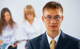 Young  serious business man Royalty Free Stock Photography