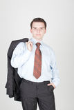 Young serious businessman Stock Photography