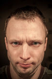 Young serious Caucasian man portrait Royalty Free Stock Images
