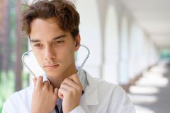 Young serious doctor Royalty Free Stock Image