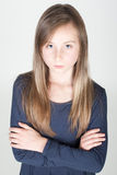 Young serious girl Stock Photo