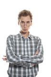 Young serious man Stock Images