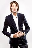 Young serious man in suit Royalty Free Stock Images