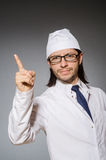 The young serious medical worker pointing Royalty Free Stock Photography