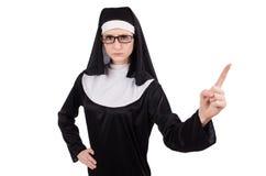 Young serious nun Stock Image