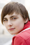 Young serious woman Stock Photo