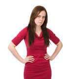 Young serious woman Royalty Free Stock Image