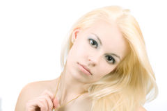 Young serious women Royalty Free Stock Photography