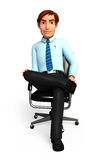 Young Service man with sitting on chair Stock Photos