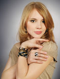 young sexual woman with a beautiful face Stock Images