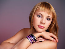 Young sexual woman with a beautiful skin Royalty Free Stock Photo