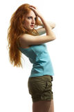 The young sexual woman with red hair Stock Photos