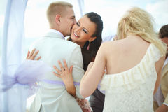 Young, sexy and attractive couple hugging in emotional embrace d Stock Photography