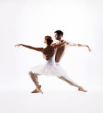 Young and sexy ballet couple dancing Stock Photography
