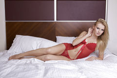 Young sexy blond in sexy lingerie Royalty Free Stock Photo
