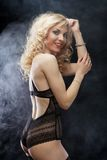 Young sexy blond woman in  lingerie Royalty Free Stock Photo