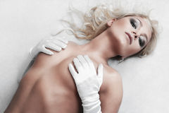 Young sexy blonde girl Royalty Free Stock Images