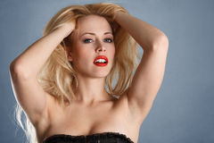 Young sexy blonde girl Royalty Free Stock Photo