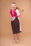 Young blonde wearing dirndl Stock Image