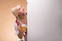 Young blonde wearing dirndl stock images