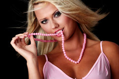 Young sexy blonde woman Stock Photos