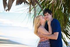 Young blonde woman and man at romantic date at vacation. Young blonde women and men at romantic date at vacation royalty free stock image
