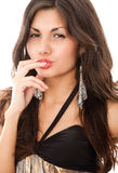 Young sexy bown hair woman Royalty Free Stock Photo
