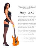 A young and sexy brunette with an electric guitar Stock Image