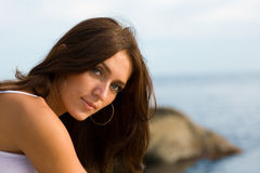 Young sexy brunette woman Royalty Free Stock Photos
