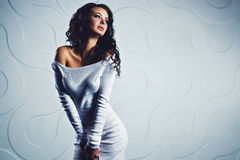 Young brunette woman Royalty Free Stock Photo