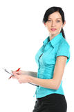 Young business woman. Stock Photo