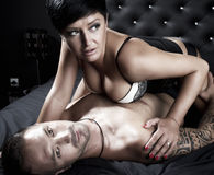 Young sexy couple Royalty Free Stock Image
