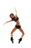 Young and sexy dancer over white background Stock Images