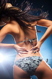 Young sexy dancing woman Stock Photography