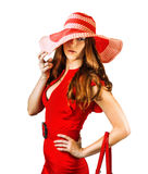Young fashionable woman Royalty Free Stock Images