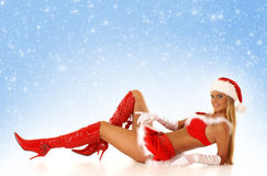 Young sexy female Santa Royalty Free Stock Image