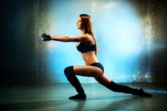 Young sexy fitness woman Stock Images