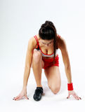 Young fitness woman start running Royalty Free Stock Image