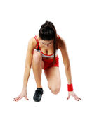Young sexy fitness woman start running Stock Images