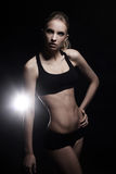 Young and sexy girl with fit body. Young and beautiful girl with sexy body Stock Photos
