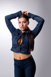 Young and sexy girl look at camera - rnb style Royalty Free Stock Photos