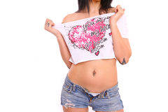 Young sexy girl with tattoos Stock Photography