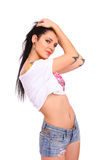 Young sexy girl with tattoos Stock Photo